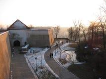 Wände Åpilberk in Brnos historischem Schloss stockfotografie
