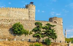 Wände der Skopje-Festung stockfotos
