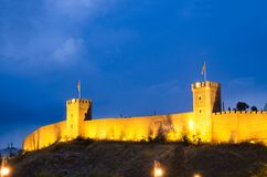 Wände der Skopje-Kohl-Festung lizenzfreies stockbild