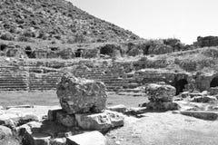 Wände des alten griechischen Amphitheaters Stockfotografie