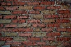 Wände des alten roten Backsteins alte Backsteinmauer Stockfotos