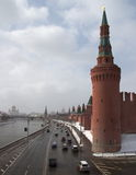 Wände des Moskaus der Kreml Stockbilder
