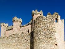Wände des Turegano Schlosses Stockbilder