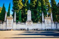 Wände, die das dominikanische Kloster auf dem Aventine-Hügel in Rom umgeben Lizenzfreie Stockbilder