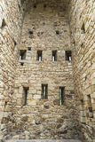 Wände eines Schlosses Stockfotos