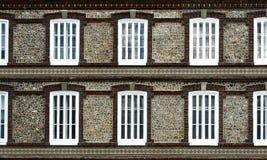 Wände und Fenster Stockfotos