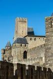 La Cité, Carcassonne Stockbilder