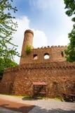 Wände und Turmruinen von altem Auerbach ziehen sich zurück Stockbilder