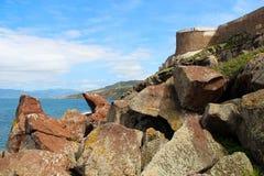 Wände von Castelsardo, Sardinien, Italien Stockbild