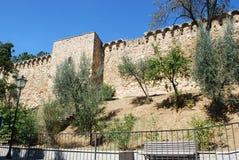 Wände von d'Orcia Sans Quirico stockbild
