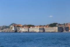 Wände von Dubrovnik stockfoto