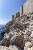 Wände von Dubrovnik lizenzfreie stockbilder