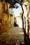 Wände von Häusern auf den Straßen von Montenegro Lizenzfreies Stockbild