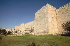 Wände von Jerusalem Stockfotos
