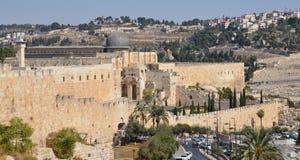 Wände von Jerusalem Stockfotografie