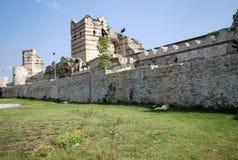 Wände von Konstantinopele stockbilder