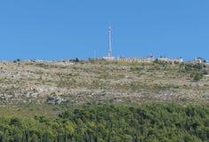 Wände von Ston-Dorf nahe Dubrovnik Lizenzfreie Stockbilder