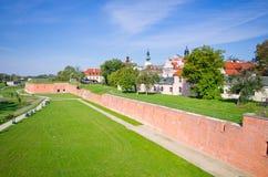 Wände von Zamosc, Polen lizenzfreies stockbild