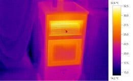 Wärmebildfoto, Kugelofen Stockbild