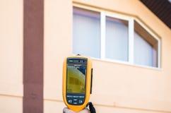 Wärmebildgebung des Hausfensters Lizenzfreie Stockfotografie