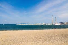 Wärmekraftwerk Yokosukas Stockbilder