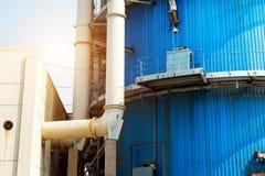 Wärmekraftwerkrohrleitung Stockfotografie