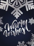 Wärmen Sie das Wunschbeschriften Hand geschriebenes warmes Wunschplakat Modernes h Stockfoto
