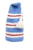 Wärmen Sie gestrickten Schal und Hut mit den getrennten Streifen Lizenzfreie Stockfotos