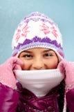 Wärmen Sie sich im Winter stockbild