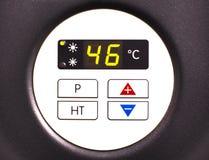 Wärmepumpebildschirmanzeige Stockfoto