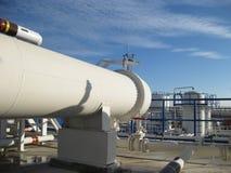 Wärmetauscher in einer Raffinerie Lizenzfreie Stockbilder