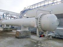 Wärmetauscher in einer Raffinerie Lizenzfreies Stockbild