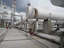 Wärmetauscher für die Heizung des Öls stockfotografie