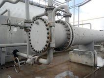 Wärmetauscher für die Heizung des Öls Stockfoto
