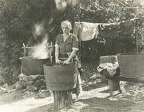 Wäsche-Tag Stockfotos