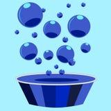 Wäsche- und Blasenhintergrund Lizenzfreies Stockbild