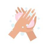 Wäschehände Auch im corel abgehobenen Betrag stock abbildung