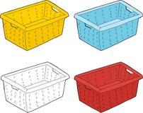 Wäschekorb-Reihe Stockfotos