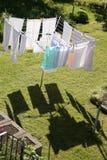 Wäscherei auf einem Drehwäschetrockner Lizenzfreies Stockfoto