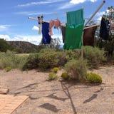 Wäscherei in der Wüste Stockbilder