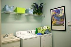Wäscherei-Raum Stockbild