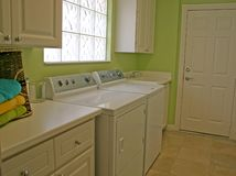 Wäscherei-Raum Stockbilder