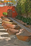 Wäscherei in Santa Catalina Monastery, Arequipa Stockbild