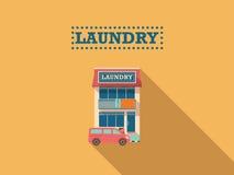 Wäscherei-Shop Stockfoto