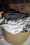 Wäscherei, warme Kleidung in der Fessel stockbild