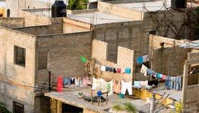 Wäschereihängen Stockfotografie