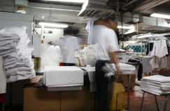 Wäschereiindustrie Lizenzfreie Stockfotos