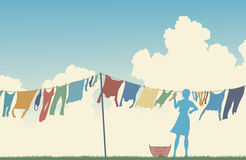 Wäschereitag lizenzfreie abbildung