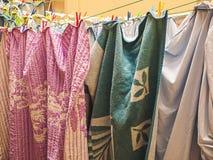 Wäschereitrockner im Hinterhof Lizenzfreies Stockbild