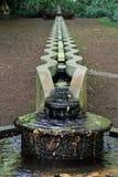 Wässern Sie Abflussrinne in nationalem tropischem botanischem Garten Allerton, Kauai Lizenzfreie Stockfotografie